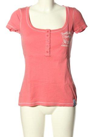 Kangaroos T-Shirt pink Schriftzug gedruckt Casual-Look