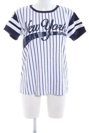 Kangaroos T-Shirt weiß-schwarz Motivdruck Casual-Look
