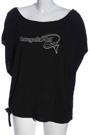 Kangaroos T-Shirt schwarz-weiß Schriftzug gedruckt Casual-Look