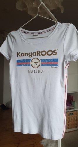 Kangaroos T-Shirt mit Rot, Blau und Goldenen Verzierungen