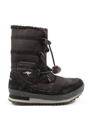 Kangaroos Winter Boots black-brown casual look