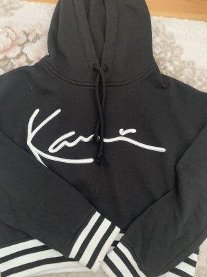 Karl Kani Maglione con cappuccio nero-bianco