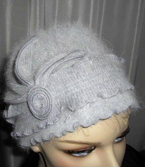 no name Sombrero de piel gris claro