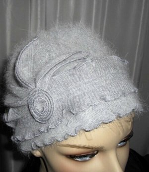 no name Fur Hat light grey