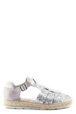 Kanna Espadrilles-Sandalen silberfarben-pink Casual-Look