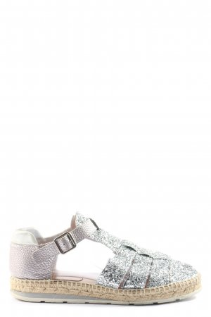 Kanna Espadrille Sandals silver-colored-pink casual look