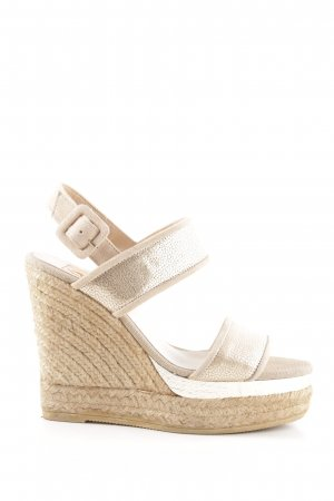 Kanna Wedges Sandaletten goldfarben-creme Animalmuster Casual-Look