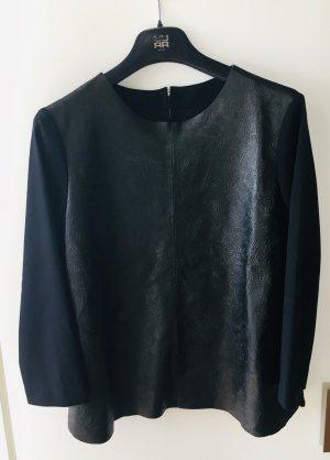 Riani Blusa de cuero negro Cuero