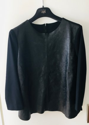 Riani Leather Blouse black leather