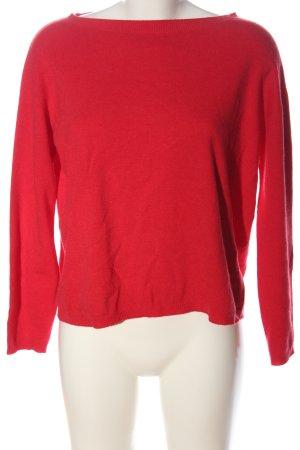Kaos Sudadera de punto fino rojo look casual