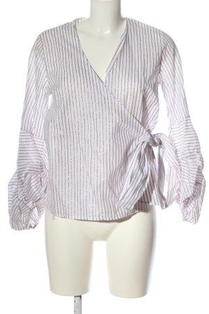 kaos jeans Wraparound Shirt white-pink striped pattern casual look
