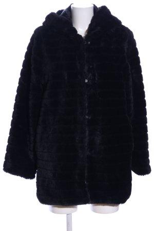 Kaos Chaqueta de piel sintética negro estampado a rayas look casual