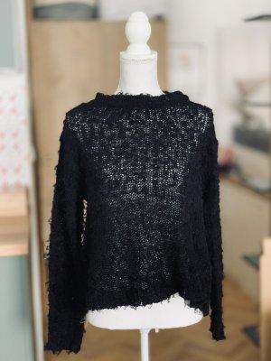 Kaos Pull oversize noir coton