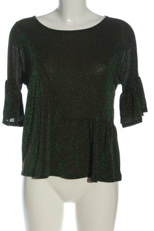 Kaos Jersey de manga corta verde moteado look casual