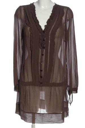 Kaos Blouse transparente brun élégant