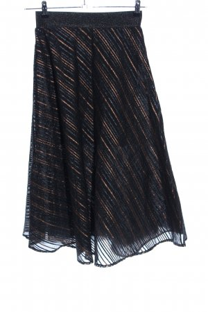 Kaos Tulle Skirt black-bronze-colored striped pattern casual look
