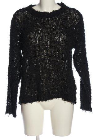 Kaos Jersey trenzado negro look Street-Style
