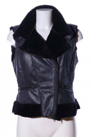 Kapalua Biker Vest black casual look
