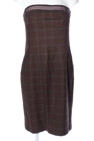Kapalua Bustier Dress brown-light grey check pattern casual look