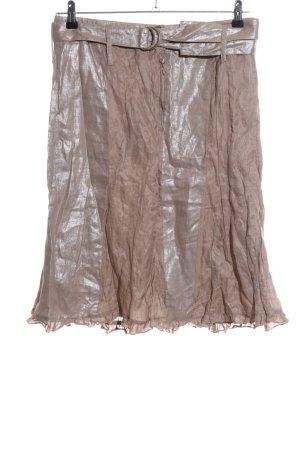 Kapalua Glockenrock bronzefarben Streifenmuster Casual-Look