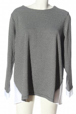 Kapalua Long Sleeve Blouse black-white allover print casual look