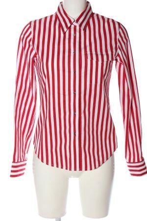 Kapalua Koszula z długim rękawem czerwony-biały Wzór w paski