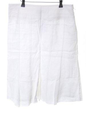 Kapalua Falda de lino blanco look casual