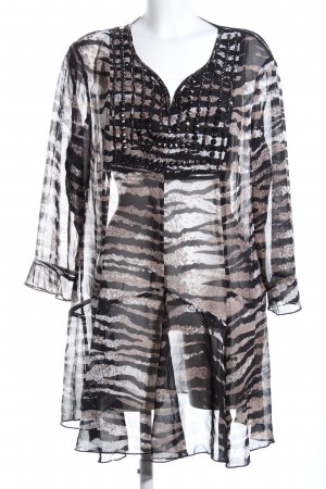 Kapalua Long Blouse brown-black animal pattern extravagant style