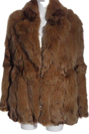 Kapalua Futrzana kurtka brązowy W stylu casual