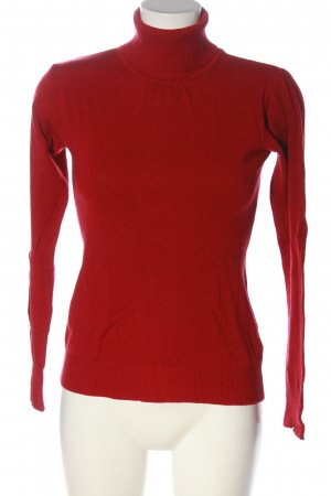 Kapalua Turtleneck Sweater red cable stitch casual look