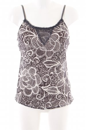 Kapalua Spaghetti Strap Top brown-cream abstract pattern casual look
