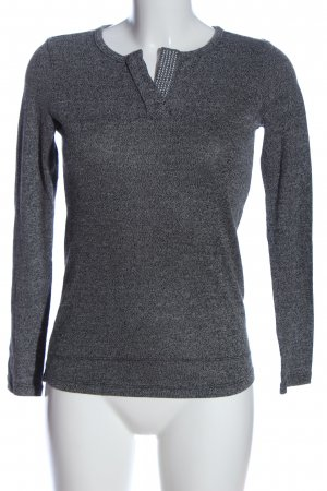 Kapalua Strickpullover hellgrau meliert Business-Look