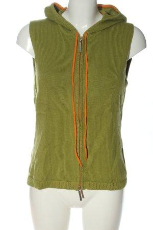 Kapalua Smanicato lavorato a maglia verde-arancione chiaro punto treccia