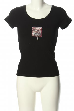 Kapalua T-Shirt schwarz Motivdruck Casual-Look