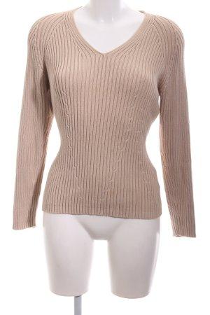 Kapalua V-Ausschnitt-Pullover nude Casual-Look
