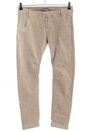 Kaporal Pantalon en velours côtelé blanc cassé style décontracté
