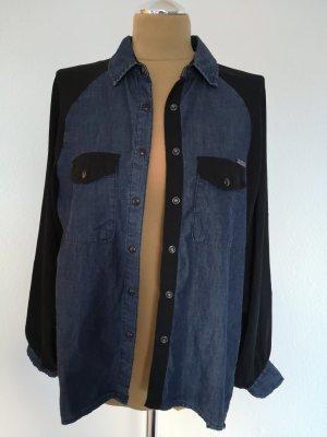 Kaporal Denim Blouse dark blue-black