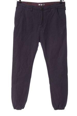 Kaporal Pantalone jersey lilla-nero motivo a quadri stile casual
