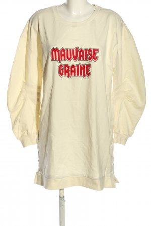Kaporal Sweatkleid creme-rot Schriftzug gedruckt Casual-Look