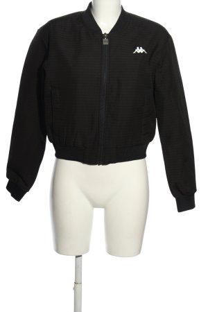 Kappa College Jacket black-white flecked casual look