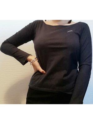 Kappa Graues Langarm T-Shirt | Größe M/38