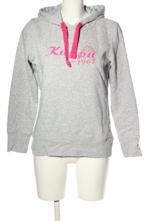 Kappa Kapuzensweatshirt hellgrau-pink meliert Casual-Look