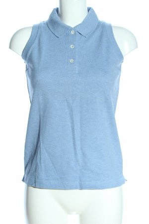 Kappa Polo Top blau meliert Casual-Look