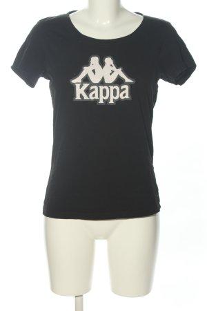 Kappa Camicia fantasia nero-bianco caratteri stampati stile casual