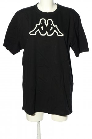 Kappa Print-Shirt schwarz Motivdruck Casual-Look