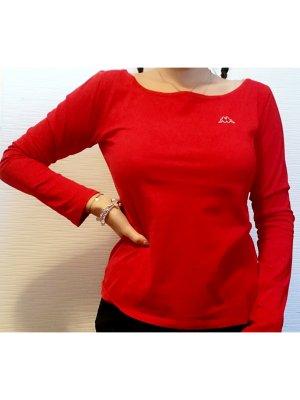 Kappa Rotes Langarm T-Shirt | Größe M/38