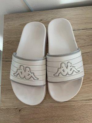 Kappa Wygodne sandały biały Tkanina z mieszanych włókien