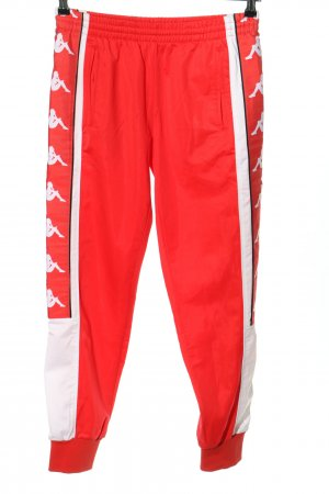 Kappa Sporthose rot-creme Motivdruck Casual-Look
