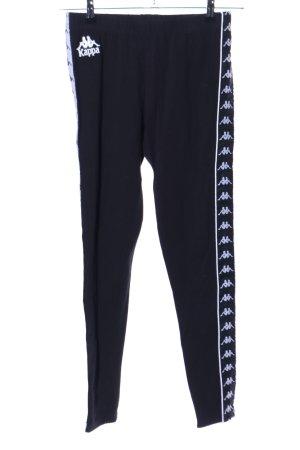 Kappa Sporthose schwarz-weiß Motivdruck sportlicher Stil