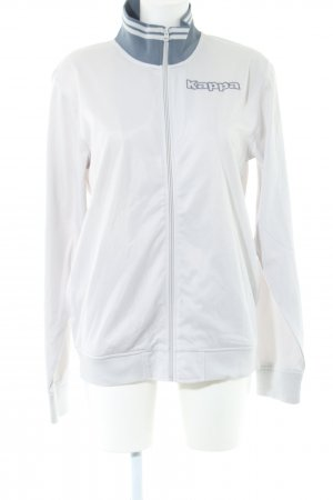 Kappa Sportjacke weiß-hellgrau Schriftzug gedruckt Casual-Look